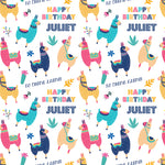Llamas Personalised Birthday Wrapping Paper