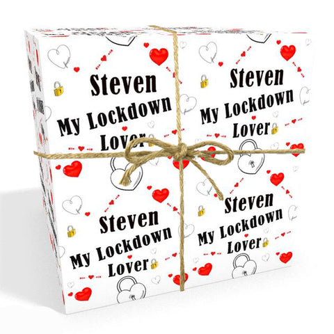 Lockdown Lover Personalised Wrapping Paper
