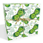 Peas In A Pod Valentines Anniversary Personalised Wrapping Paper