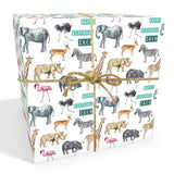 Safari Personalised Birthday Wrapping Paper