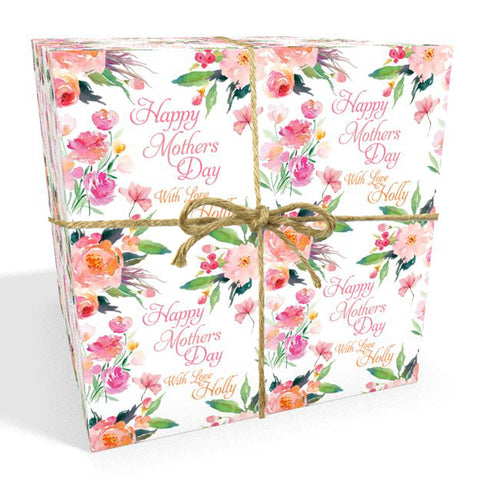 Personalised Mother's Day Flowers Wrapping Paper