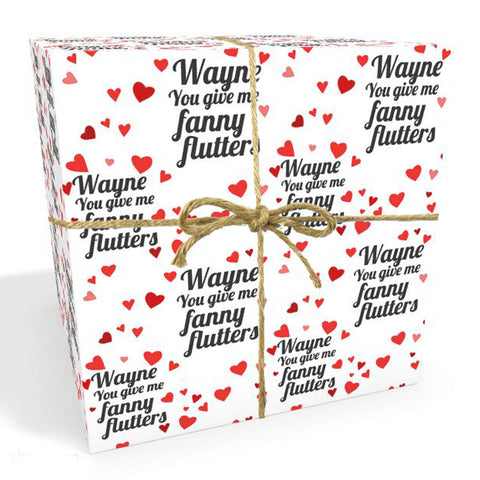 Fanny Flutters Valentines Personalised Wrapping Paper