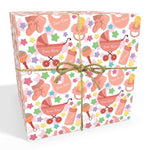 New Baby Pink Personalised Wrapping Paper