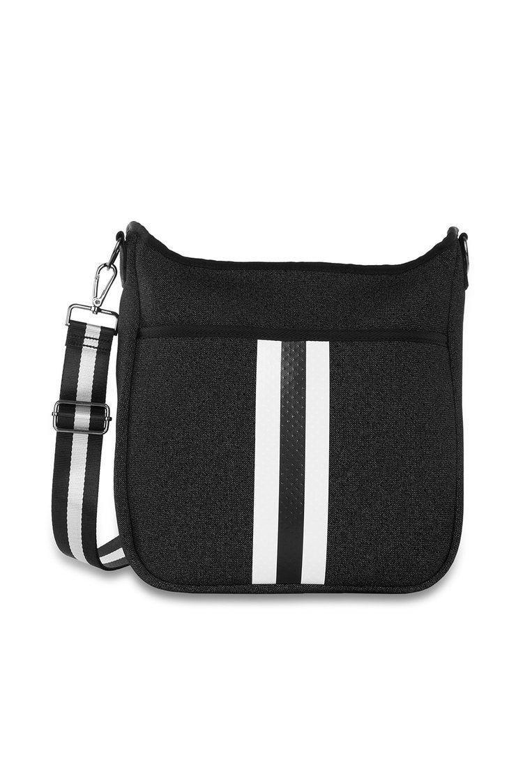 Blake Perf Crossbody Black Denim/White Black Stripe