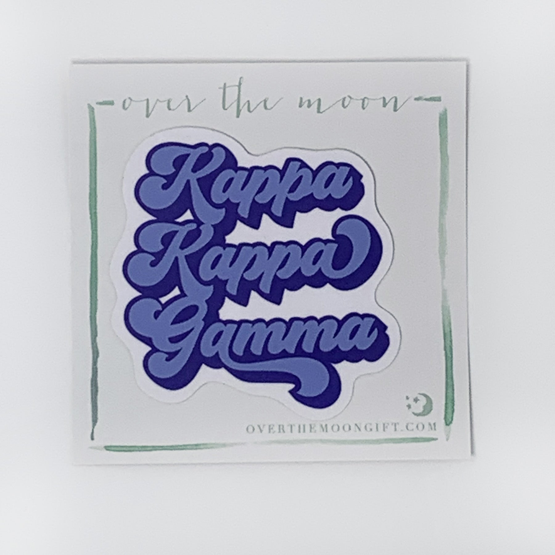 Kappa Kappa Gamma Retro Decal