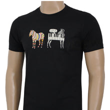 Load image into Gallery viewer, Paul Smith Men T-Shirt Jazzy Zebra Organic Cotton Black