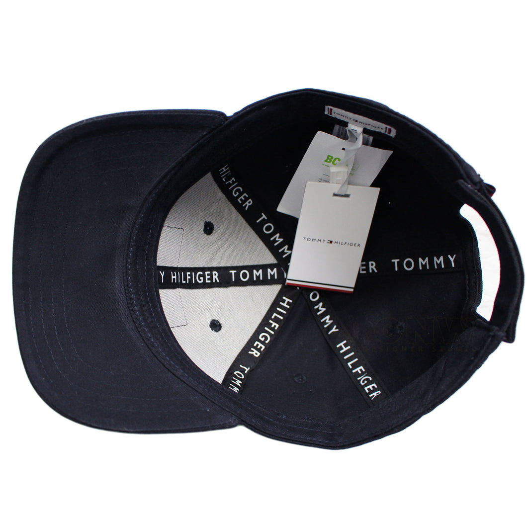 Tommy Hilfiger Men's Leather Patch Baseball Cap, Golf Cap - One Size