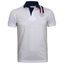 Load image into Gallery viewer, Hackett Men Aston Martin Racing Vertical Stripe Polo Shirt Slim Fit White