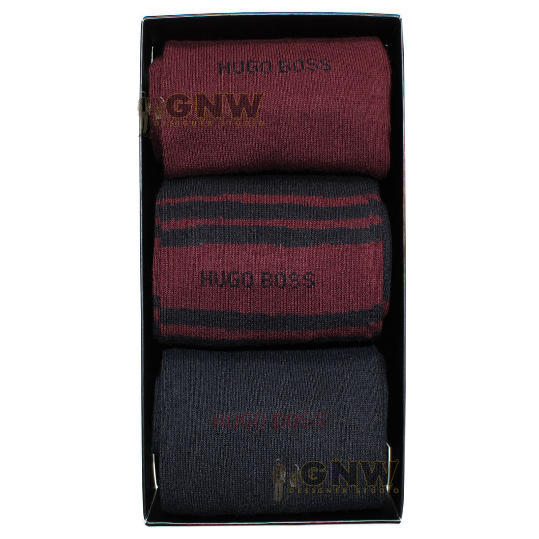 Hugo Boss Men's 3 PACK RS Gift Set Calf Socks