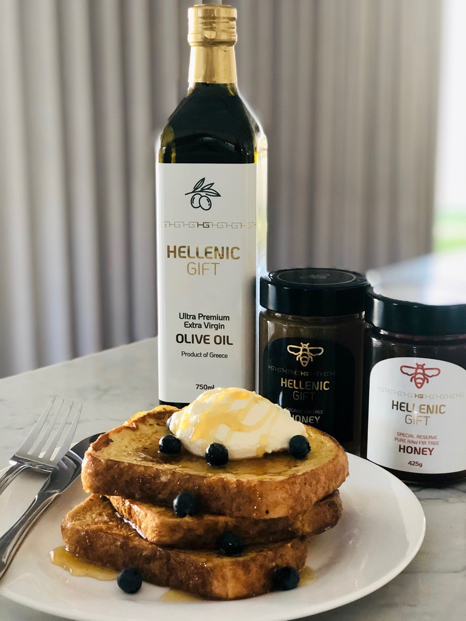 Load image into Gallery viewer, French Toast featuring Hellenic Gift Olive Oil and Honey