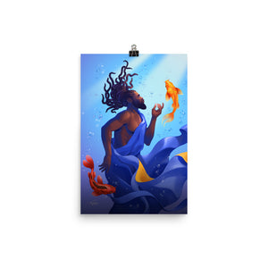 PISCES MAN Zodiac Illustration Print Poster by El Carna