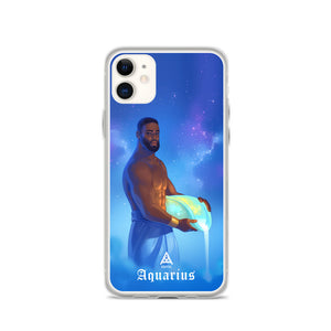 Kafful AQUARIUS MAN Zodiac iPhone Case by El Carna