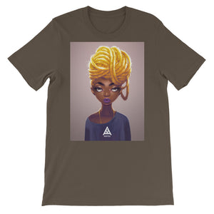 KAFFUL Gold Locs Short-Sleeve Unisex T-Shirt