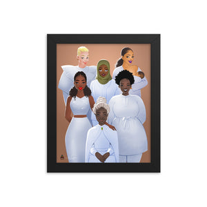 KAFFUL Women Glow Framed Poster by El Carna