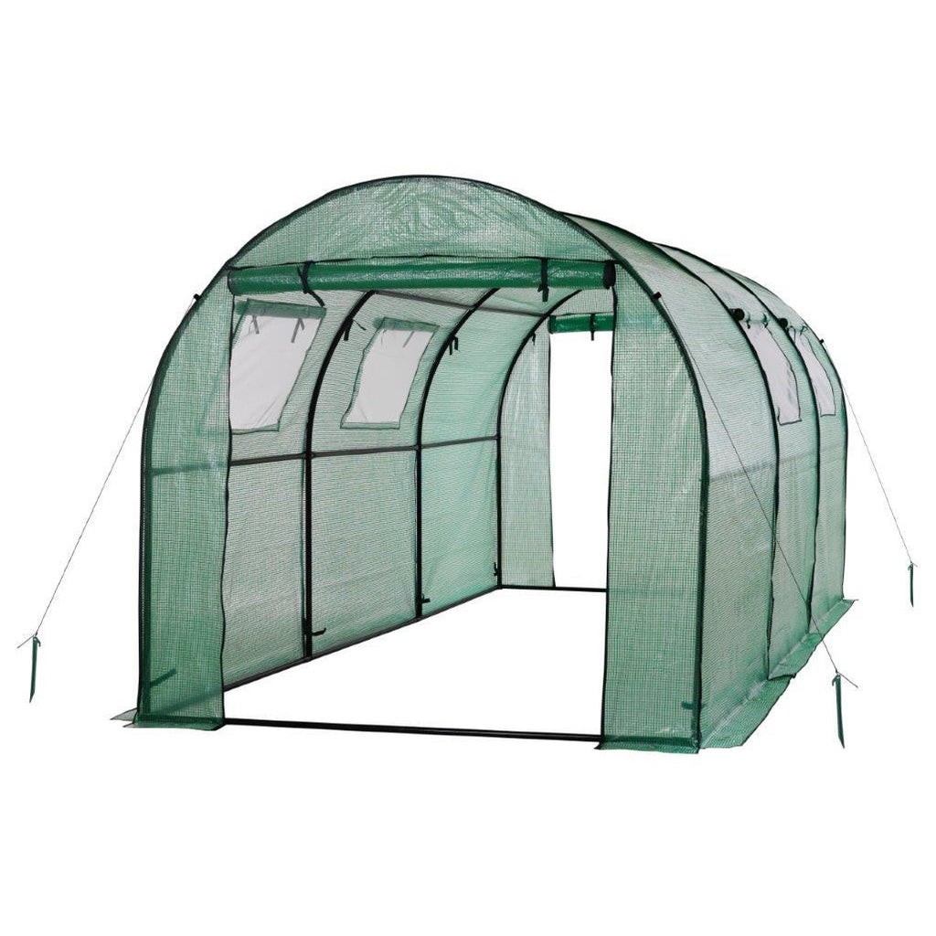 Ogrow® Deluxe Walk-In Tunnel Greenhouse with Cover - Green