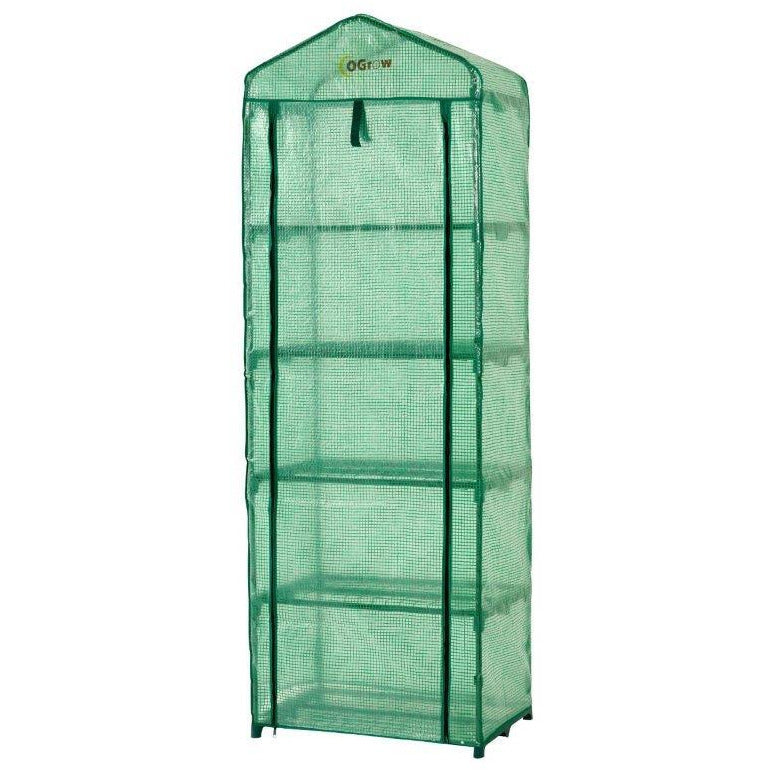 Ogrow® Mini Portable Greenhouse, with Cover and 5 Tier Shelves