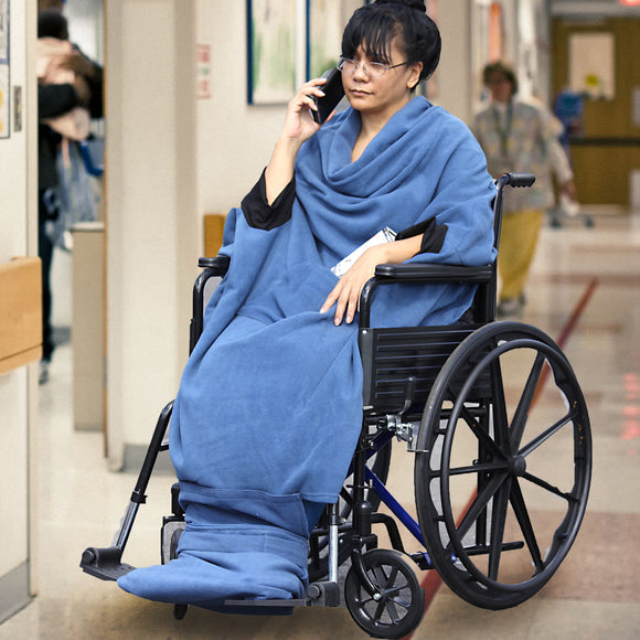 Compatible Wheel Chair Wearable Blanket