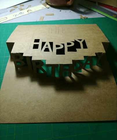 first fold pop up card