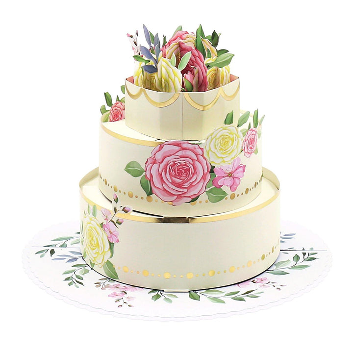 Floral Rose Cake 3D Pop Up Card