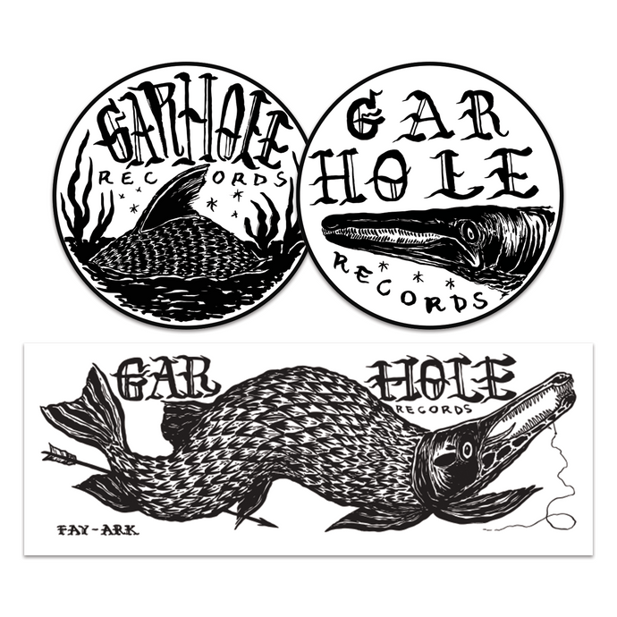 Gar Hole Vinyl Sticker Pack