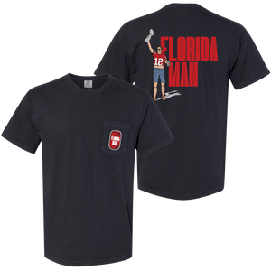 Florida Man Pocket T-Shirt - Black