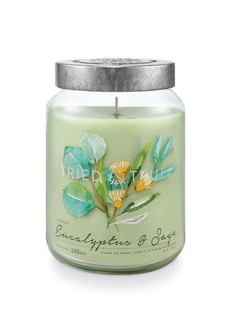 Tried & True Large Jar Candle: Eucalyptus Sage