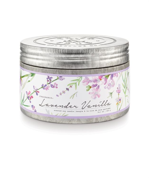 Tried & True Large Tin Candle: Lavender Vanilla