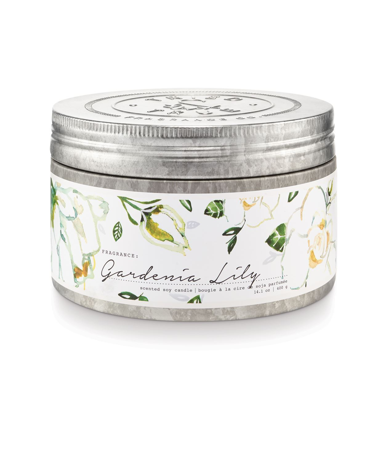 Tried & True Large Tin Candle: Gardenia Lily