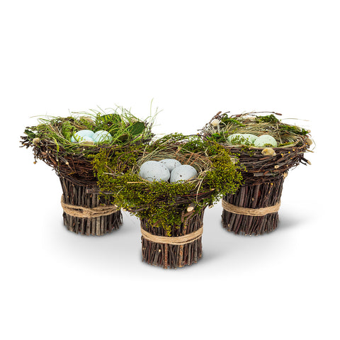 3 Assorted, Nest With Twigs, INDIVIDUALLY SOLD