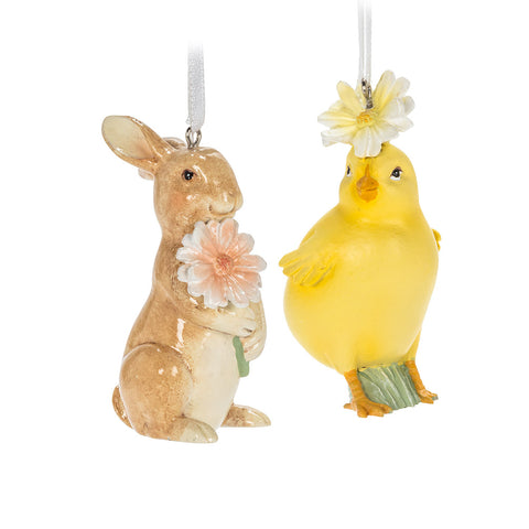 2 Assorted, Rabbit or Chick Ornament