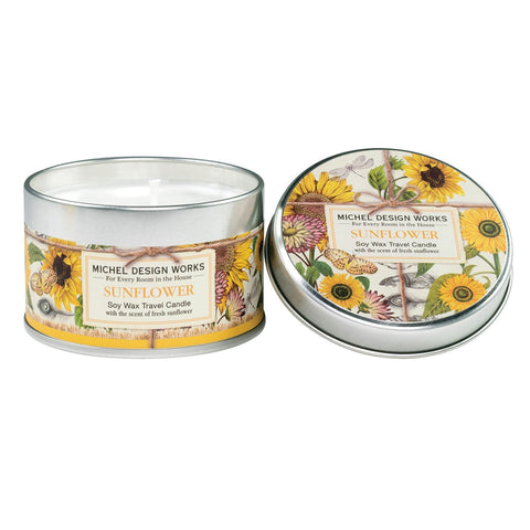 Sunflower Travel Soy Candle
