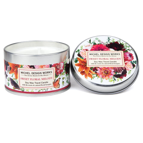 Sweet Floral Melody Travel Soy Candle