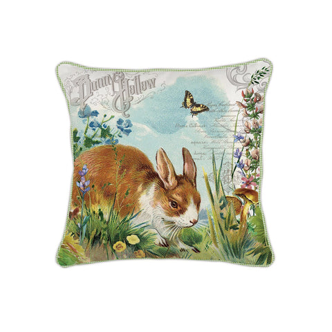 Bunny Hollow Square Pillow