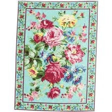 April Cornell Cottage Rose Placemat Aqua