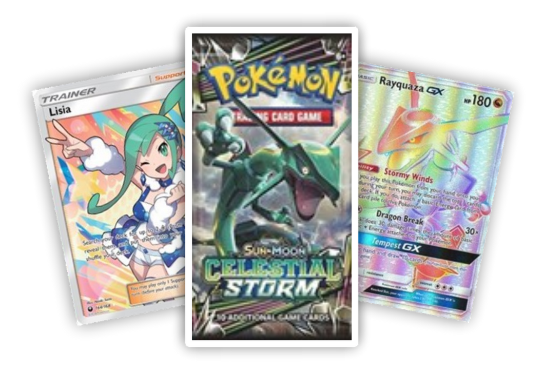 (1) SM Celestial Storm booster pack (Live Break) (Hits Only) - Evolve Esports