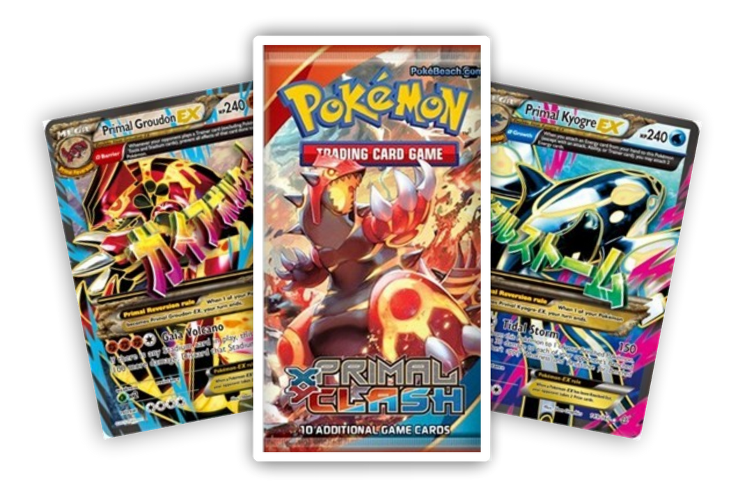 (1) XY Primal Clash booster pack (Live Break) (Hits Only) - Evolve Esports