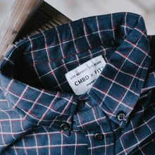 Load image into Gallery viewer, Defender Shirt in Navy Plaid Flannel