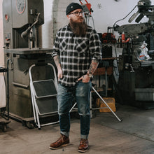 Load image into Gallery viewer, Defender Shirt in Hickory Plaid Flannel
