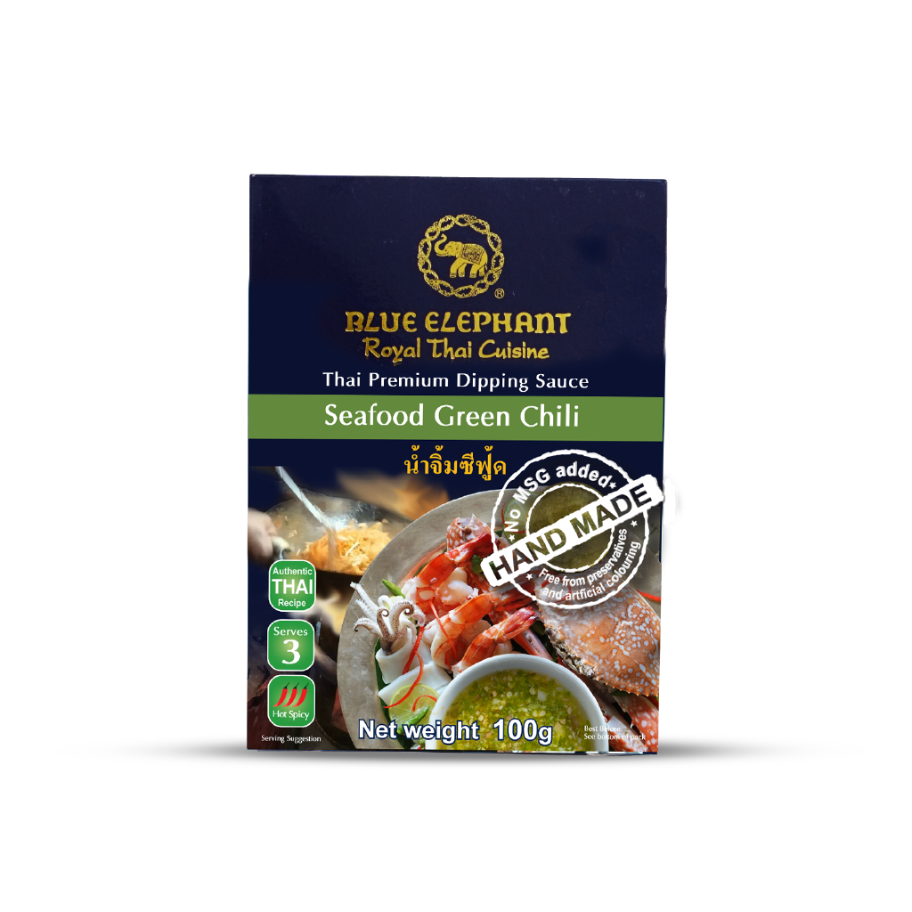 Blue Elephant Seafood Green Chili Dipping Sauce 100 g