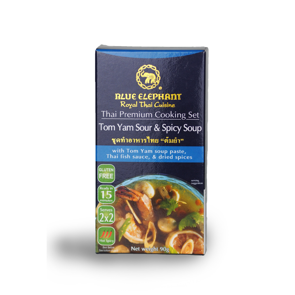 Blue Elephant Tom Yam Sour & Spicy Soup Cooking Set 90 g