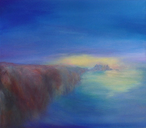 On the Edge of Light, Logan Rock (print on canvas)