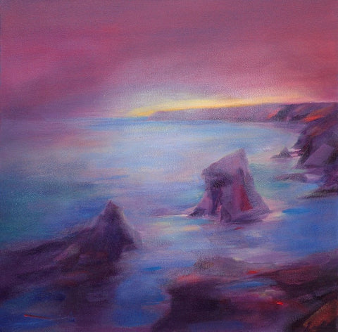 Band of Light, Bedruthan Steps (print on canvas)
