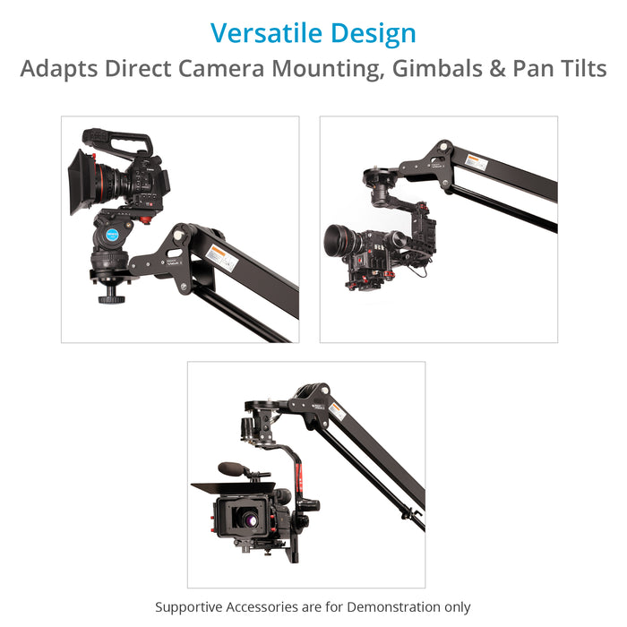 Proaim 7' Wave-2 Camera Jib Crane, Pan Tilt, Dolly Stand | Gimbal Compatible