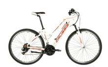 "Load image into Gallery viewer, Crussis e-Cross Lady 1.6 Hybrid Electric Bike 2021, 13Ah, 28"" Wheel, 21 Speed - White/Orange"