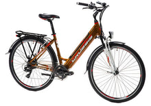 "Load image into Gallery viewer, Crussis e-Country 1.10-S Step Through Hybrid Electric Bike, 28"" Wheel, 17.5Ah - Orange Bronze"