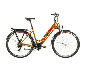 "Crussis e-Country 1.10-S Step Through Hybrid Electric Bike, 28"" Wheel, 17.5Ah - Orange Bronze"