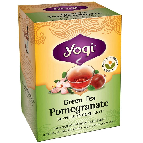 yogi green tea pomegranate 32 gram