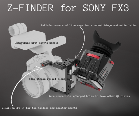 Sony FX3 Cage and Z-Finder