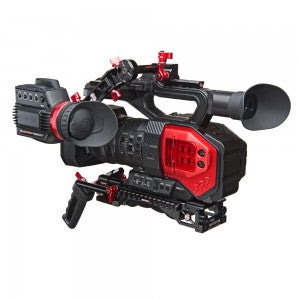 "3"" Z-Rail, Z-Rail 90 Degree Rod Lock and an Axis Mini in use on a Panasonic DVX200"