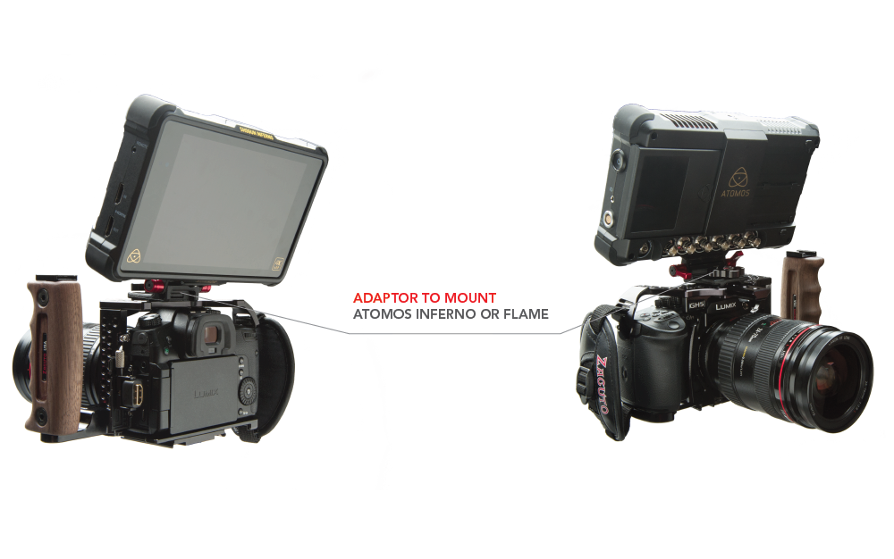 lumix gh5 cage with atomos inferno
